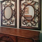 Pair of light weight decorator mirrors
