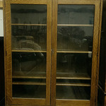 Mission Oak bookcase with key