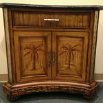 Island style cabinet with marble top
