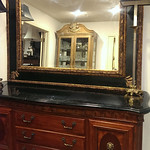 Marble top sideboard and quality decorator mirror