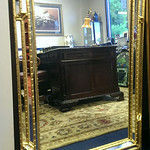 "Large Ethan Allen decorator mirror, 30.5"" x 43"""