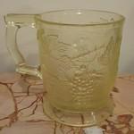 Vaseline glass mug