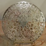Sterling trivet, one of a pair