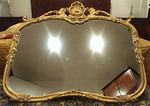 Solid wood decorator mirror