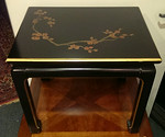 Black lacquer Asian table