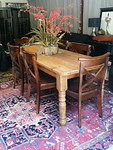 Large farm table and chairs