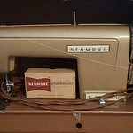 Kemmore sewing machine in suitcase style case