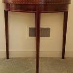 Sweet Brandt inlaid mahogany card table