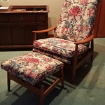 Milo Baughman Danish style chair and ottoman. Fabulous!!!