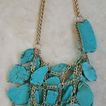 Massive turquoise necklace, statement piece!!!