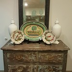 Distressed antique chest
